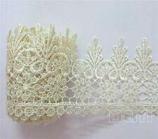 2m Vintage Embroidered Lace Edge Trim Ribbon Crochet Applique DIY Sewing Craft