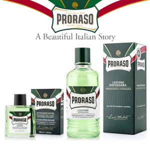 Proraso Aftershave Lotion Refresh 100/400 ml Eucalyptus Oil Menthol