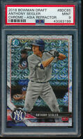 ANTHONY SEIGLER 1st 2018 Bowman Chrome Draft ASIA MOJO REFRACTOR RC PSA 9 MINT