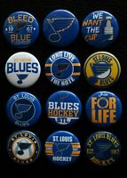 "St Louis Blues Hockey - 1"" Pinback Buttons (>FREE Shipping<)"