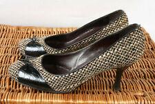 Señoras Russell & Bromley Londres Tweed y MOC-Cocodrilo Tribunal Zapatos Talla Uk 6.5 EU 39