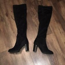Qupid over the knee black boots