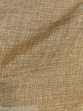 "Oatmeal Gold Faux Burlap Linen 60""W Vintage Fabric BTY Tablecloth Craft Bags"
