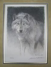 "Robert Bateman ""Wolf Sketch"" 641/950 Signed & Numbered with Mat; Lithograph"