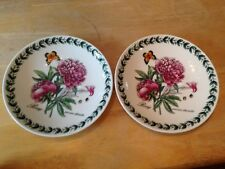 2 Roy Kirkham Fine Bone China Botanical Peony Breakfast Saucers Made in England
