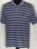 Brooks Brothers Original Fit Performance Polo Medium M Blue Striped Medium Shirt