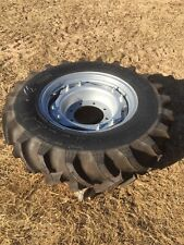 Qty 4 Of New Titan 124 24 Bias 8 Ply R1 Tractor Tire With Adj Ag Wheel 124r24