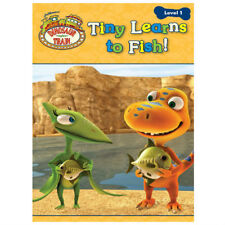 LETS READ LEVEL 1 DINOSAUR TRAIN TINY LEARNS TO FISH CARTOON KIDS CHILD TV BOOK