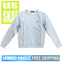 Polo Ralph Lauren Womens NWT Sky Blue Long Sleeve Crewneck Sweater Free Shipping