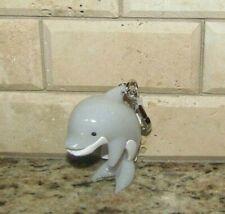 Bath Body Works Hand Sanitation Pocket. bac Gel Holder Dolphin Clip Keychain