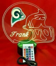 Los Angeles Rams NFL Football Light Up Light Lamp LED, Remote Personalized Free