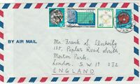 Japan 1981 Aobadai Cancels Airmail Multiple Subjects Stamps Cover FRONT Rf 30652