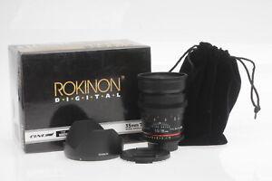 Rokinon 35mm T1.5 AS UMC Cine Lens 35/1.5 Nikon F #078