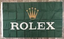 Rolex Logo Flag 3X5 Garage Shop Wall Banner Advertisement Daytona Racing