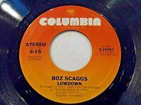 Boz Scaggs Lowdown / Harbor Lights 45 1976 Columbia Vinyl Record