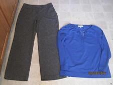 East 5th misses sz 12 grey dress pants & Jones New York top lot J124