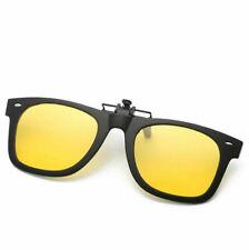 Men Polarized Driving Clip-on Night Vision Sunglasses Flip-up Lens Glasses UV400