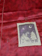 Vintage Christmas Runner Linen Tablecloth Red Germany Christmas Decoration