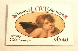 1995 Love Cherub 20- 32¢ stamp booklet Scott 2959 BK229