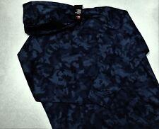 UNDER ARMOUR COLDGEAR Hoodie Sweatshirt NAVY BLUE CAMO 1321736 PO MENS LARGE