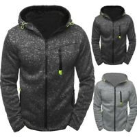 Men's Winter Warm Coat  Hoody Zipper Slim Hoodies Sweatshirts Pullover Jacket US