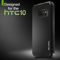 HTC 10 Case, Evocel Dual Layer Raised Lip Hybrid Armor Protector Case