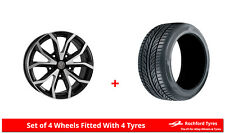 "Alloy Wheels & Tyres 18"" Wolfrace Assassin TRS For Ford Transit Custom 12-16"
