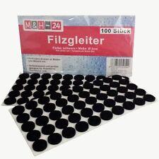 Filzgleiter rund schwarz selbstklebend Möbelgleiter 2mm Bodenschutz