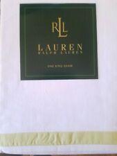 New Ralph Lauren Crystal Cay Green White King Pillow Sham