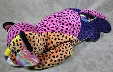 Lisa Frank Vintage 1998  Hunter Leopard Cheetah Cat Large Plush Animal w/Tags