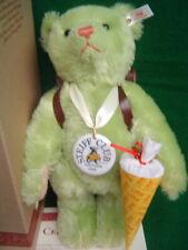 STEIFF Club School Starter Teddy Bear 12 inches Green mohair 1999/2000