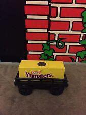RARE Thomas Wooden Railway Yoplait Yumsters Yogurt cargo car New!