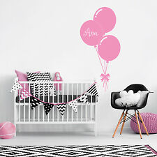 Custom Name Personalise Balloon Baby Girl Bedroom Wall Sticker Nursery Decal