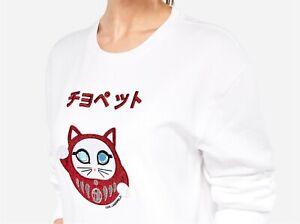 KARL LAGERFELD Sweatshirt Weiß XL bestickt Karl in TOKYO NP 175 € wNEU Top Jeans