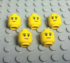 Lego X5 New Female Head With Eyebrows,eyelashes,Peach Lips Smile Face Pattern