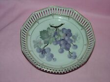 "C S Bavaria Reticulated 8"" Grape Cluster Bowl"