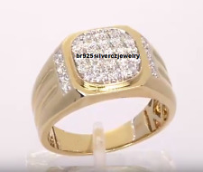 14K Yellow Gold Mens Diamond Pinky Anniversary Wedding Ring Band 2.00 Ctw