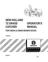 NEW HOLLAND TZ25DA Mower Deck OPERATORS MANUAL