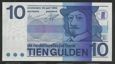 Netherlands P-91 10 Gulden 1968 Unc