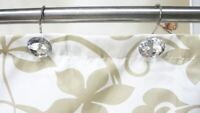 12PCS Decorative Rhinestone Bling Rolling Curtain Crystal Hooks For Bathroom Hot