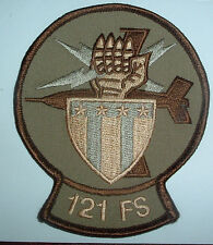 AMERICAN PATCHES-UNITED STATES AIR FORCE USAF 121st FIGHTER SQN DESERT