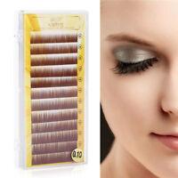Individual Mix Brown False Mink Eyebrow Extensions 0.10 mm J Curl Permanent Lash