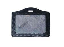 Plain Black Horizontal ID Badge Holder - Lanyard NOT included