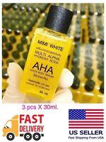 3 X MIMI WHITE AHA Whitening Body Serum Brightening Skin 30ml US Seller🇺🇸.