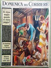 La Domenica del Corriere 17 Aprile 1966 Hovercraft Persia Pininfarina Fattore Rh