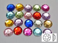 "200 Acrylic Round Flatback Rhinestone Gems 10mm(3/8"") Pick Your Color"