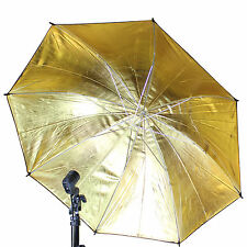 "Photo Umbrella 83cm/33"" Gold & Black studio Flash Reflector Photography Umbrella"