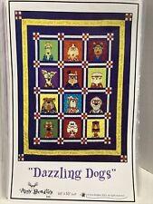 12 Blocks Dazzling Dogs Quilt Block Pattern Set