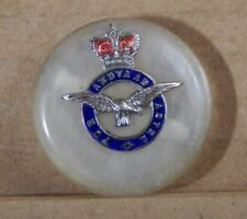 post war 1950's Royal Airforce Sweetheart Brooch button style Queens Crown