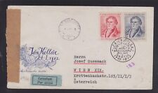 CZECHOSLOVAKIA 1952 CENSORED AIRMAIL COVER BUDAPEST TO VIENNA JAN KOLLAR CDS